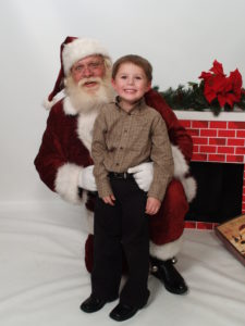 Naturally bearded Santa and child image - Have Santas Will Travel